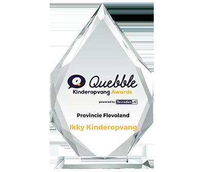 Ikky Kinderopvang winnaar Beste Kinderopvang Flevoland 2018 Quebble Kinderopvang Awards